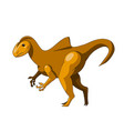 cartoon dinosaur icon vector image