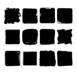 collection hand drawn squares vector image
