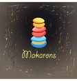 colorful cakes makarons vector image vector image