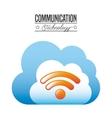 communication technology design vector image vector image