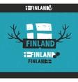 Creative emblem of Finland vector image