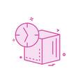 cube icon design vector image vector image
