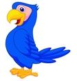 cute blue parrot cartoon vector image vector image