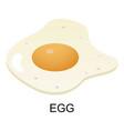 egg icon isometric style vector image