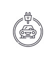 electrics cars line icon concept electrics cars vector image vector image