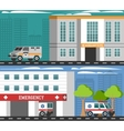 Emergency Departments Vehicles Flat Banners Set vector image vector image