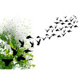 flying black silhouettes of birds vector image vector image