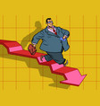 graph indicators down business bankruptcy vector image vector image