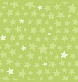 green monotone stars seamless pattern vector image