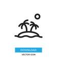 island icon simple car sign vector image vector image