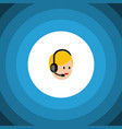 isolated service flat icon call center vector image