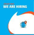 join our team busienss company globe we are vector image vector image