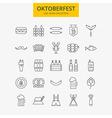 Line Oktoberfest Icons Big Set vector image vector image