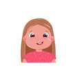 little girl cute smiling happy emotion child vector image vector image