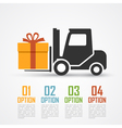 loader with gift vector image vector image