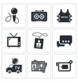 Media icon collection vector image