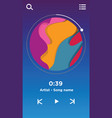 music player interface ui design template vector image vector image