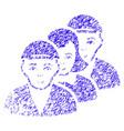 people queue icon grunge watermark vector image vector image