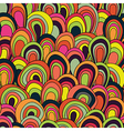 psychedelic waves seamless pattern vector image vector image