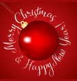 realistic red christmas ball for holiday design vector image vector image