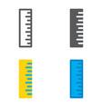 ruler flat designed icons set vector image