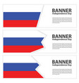 russia flag banners collection independence day vector image vector image
