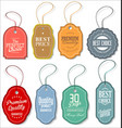 sale tag collection vector image vector image