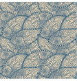 Seamless blue doodle paisley pattern vector image vector image