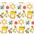 seamless pattern texture for jewish new year vector image