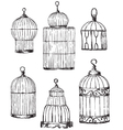 set different cages hand drawn vector image vector image