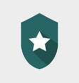 shield icon with star vector image vector image