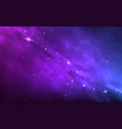 space background color nebula with shining stars vector image vector image
