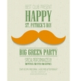 St Patricks Day retro poster vector image vector image