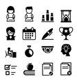 test examination survey icon vector image vector image
