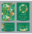 Tropical Flowers and Birds - for Wedding vector image vector image