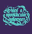 typographical halloween concept vector image vector image