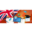 uk united kingdom england britain education school vector image vector image