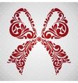 Vintage ornamental bow vector image vector image