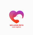 we love pets abstract symbol sign or logo vector image vector image