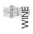 wine text word cloud concept vector image vector image