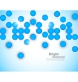 Abstract background with blue circles vector image