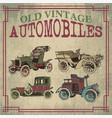 old vintage automobiles vector image