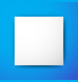 white square on blue background vector image