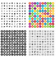 100 programmer icons set variant vector image vector image
