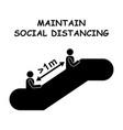1261 maintain social distancing escalator 1m vector image vector image