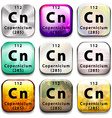A periodic table button showing the Copernicium vector image