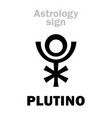 astrology plutino little planet vector image vector image