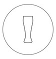 beer glass icon black color in circle isolated vector image vector image