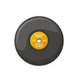 black plate for playing music vinyl record vector image vector image