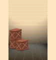 blank wooden box background vector image vector image